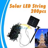 Solar Led Light Outdoor 200 LED Solar Panel String Fairy Light For Christmas Tree Decoration Light With Batteries DIY Fun
