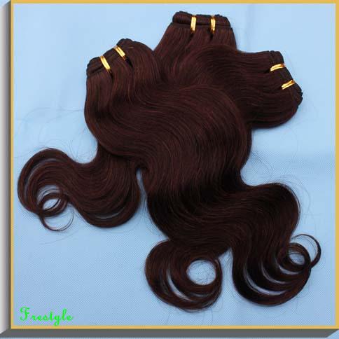 Wholesale hair 20 pieces 1 kilo mocha brazilian body wave dark brown cabelo humano remy hair weave extensions,50gram/bundle(China (Mainland))