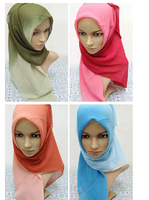 wholesale 11 colors 105*105 cm Voile Gradient traditional Muslim scarf hijab scarf 2015 new scarf  women apparel accessories