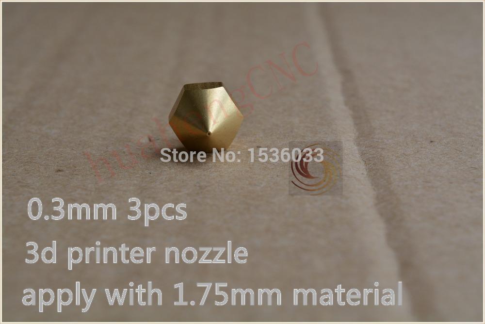 3pcs 0 3mm 3d printer nozzle extruder print head for 1 75mm consumables diy