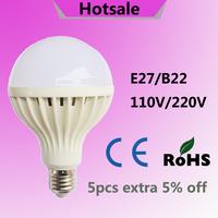 LED E27 3W 5W 7W 9W 12W 15W LED Bulbs 110V 220V 230V 240V led lamp Cold white SMD 5730 warm white LED lights Free shipping