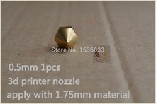 1pcs 0.5mm 3d printer nozzle extruder print head for 1.75mm consumables diy