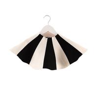 Aones Autumn Children Skirt For Party Striped Knitted Fashion Baby Girls Tutu Skirt Ball Gown Clothes Kids Pettiskirt  Saias 010