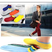 10pair/Lot/New 2014 Summer male Socks /Cotton Boat Socks /Men Sport Ankle Socks High Quality /7 color