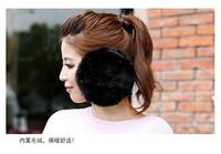 1 piece big size soft Faux Fox Fur Earmuff Winter Men Women Cold-proof Ear Cover ear cap Earwarmer Solid Soft 2 colors