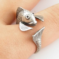Hot Sale Fish Animal Wrap Ring - Silver For Woman Unique Rings