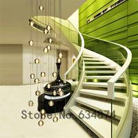 Pendant light magic crystal ball pendant light brief led stair pendant light