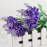 1PCS Bouquet Artificial Lavender Flowers Romantic Love Home Wedding Decorative Flowers Cheap-fine