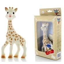 Frete Grátis Sophie a girafa La Original Bebê mordedor dentição Chupeta Chew Toy Vulli BPA Produtos livres do bebê(China (Mainland))