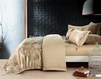 Home Textile luxury Gold silk Jacquard Floral designer's beddings set wedding decoration bed sheet/duvet cover set king/queen