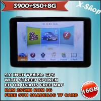 X-SHOP S900+S50+8G gps navigator 5 inch+SIRF5+256MB SDRAM,vehicle gps,Touch Screen, Mp3/Mp4, Photo Viewer, Radio Tuner