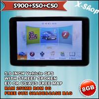 X-SHOP S900+S50+C50 gps navigator 5 inch+SIRF5+256MB SDRAM,vehicle gps,Touch Screen, Mp3/Mp4, Photo Viewer, Radio Tuner