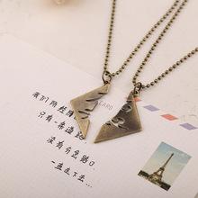 High quality 2pcs Cheap Necklace The Mortal Instruments City of Bones Parabatai Cupid couples Best Friend