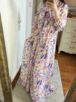 Women Dress 2014 Runway Five Colors Femal v-neck Long Dress Ankle Length Evening Party Dresses Free HK post