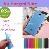 0.3mm Ultra Thin Slim Transparent Luxury Soft TPU Crystal Soft Cover Case for Xiaomi Miui Hongmi Note Red Rice Note Redmi Note