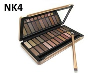 2014 New Arrived 24 Colors Fashion Make up Eye Shadow Palette NK4 Brush Set Nake 4 Eyeshadow Mirror Beauty Gift Party Makeup