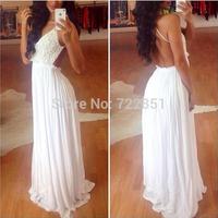 The NEW Sexy lace backless dress chiffon dress V-neck dress  HHLOM0112 free shipping