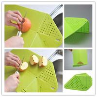 1Pcs Multifunctional Plastic Foldable Drain Cutting Board Fruit /Vegetable Cutting Chopping Board Kitchen Supplies EJ871592