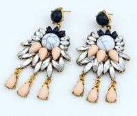 Lovely Faux Sotne Tassels Dangle Earrings New Fashion Statement Drop Earrings Women Trendy Jewelry   BJE905222