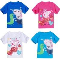 One pcs!Peppa pig t-shirt,baby boys cotton T-shirts kids child cartoon t shirts kids children Tops