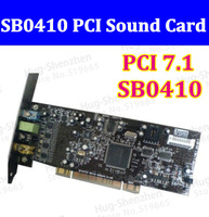 Free shipping Original CREATIVE LABS SOUND CARD BLASTER SB0410 PCI 7.1  24Bit sound card  SOUND CARD SB 0410
