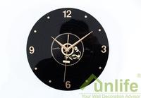 funlife Free Shipping 30cm 11.8in Creative Quartz Clock Acrylic Europe Retro nostalgia CD Disc Style Alarm Clock wc1387