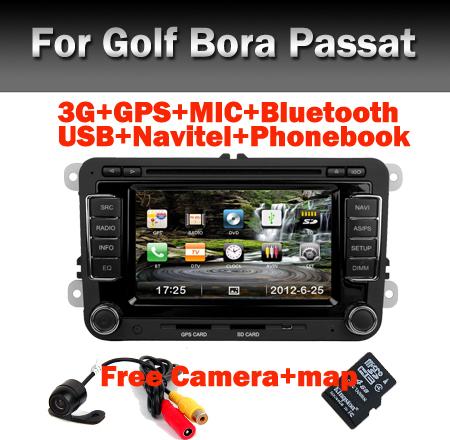 3G Autoradio for VW Polo Passat B5 Golf Tiguan Bora Sagitar Jetta GPS Bluetooth Radio RDS SD USB IPOD Steering wheel Free Camera(China (Mainland))