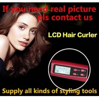 2014 NEW LCD Perfect curl  Automatic Curler Curling Iron Hair Roller Magic Hair Curlers Styling Tools Free Shipping
