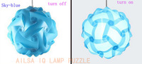 Beautiful IQ Light Jigsaw Lamp Puzzle Lampe,size 25cm/30cm/40cm YSLIQRS free shipping