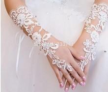 Ivoire Simple mariée gants De mariage mitaines Luva De Noiva Luva dentelle gants De mariée Para Noiva accessoires De mariage 11301(China (Mainland))