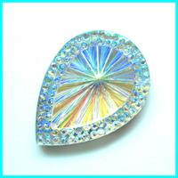 Teardrop Gemstone Cabochon Jewelry Trimming 25*18mm 100pcs/lot Flat Back Rhinestone DIY Jewelry TrimmingStone