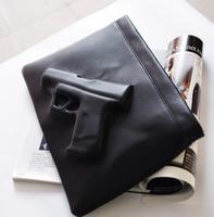 Women bag gun shoulder bag 3d bag day clutch envelope pistol bag vlieger vandam style fashion PU Leather handbag messenger bag