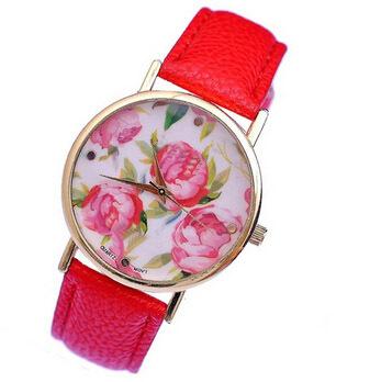 Garden Flowers Retro Fashion Belt Beautiful Watch Quartz Watch Female Form 13 Kinds Of Styles Digital