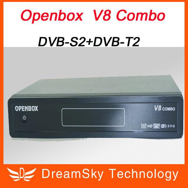 2pcs Openbox V8 Combo Satellite Receiver DVB-S2+DVB-T2 Support Cccamd Newcamd Youtube Youporn Google Map USB Wifi DLNA(China (Mainland))