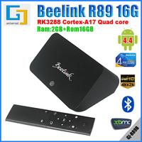 Beelink R89 Rockchip RK3288 TV BOX Quad Core 1.8Ghz Cotex-A17 2GB/16GB 2.4G/5GHz Wifi 4Kx2K H.265 Android 4.4 Bluetooth XBMC