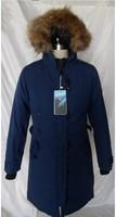 Top Grade Goose Down Jackets Women's Parka Jacket Long Winter Coat Large Fur Collar Real Raccoon Fur Hood UPS EMS Free Shipping