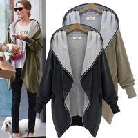2014 Vogue Winter Coat Women Hooded Long Sleeve Warm Loose Women Coat Parka Jacket Outwear Plus Size M XL XXL Free Shipping 1658