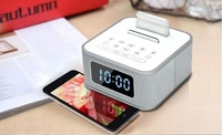 free shipping Wireless Bluetooth Speaker with Built-in Mic Hands-free Portable Mp3 Mini Subwoofer 4.0bluetooth ,AUX, Alarm Clock