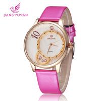 Fashion Women Watch Flower Luxury Ladies Dress Watches Quartz Casual Floral Leather Watch Relogio Bracelet