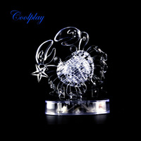 Free Shipping CP9048A  2014 Newly design DIY Funny Cancer 3D Crystal Puzzles with Coloured lights 41pcs