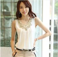 Women White Black Chiffon Tops Blouses Shirts New 2015 Fashion Spring Summer Casual Shirt Blusas Camisas Roupas Femininas kimono