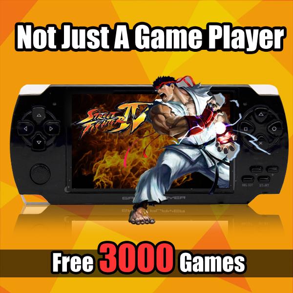 Handheld Device 4GB Handheld Game Console MP3 MP5 Player FM Camera 4.3 Inch Portable Video Game Player Handheld Game machine(China (Mainland))