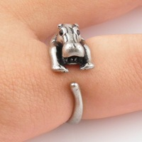 Wholesale Hot Fashion Hippo Animal Wrap Ring - For Woman and Ladies Free Shipping
