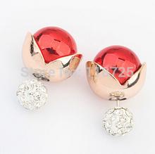 LZ Jewelry Hut 112168 The New hot selling Earrings Shining Pearl Earrings 2014 Big Pearl Earrings For Women