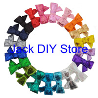 "Free Shipping Wholesale100pcs/lot,20 Colors 1.8"" Mini Sequin Hairbows WITHOUT CLIP Baby Girl Hair Accessory,Sequin Hair Bow"