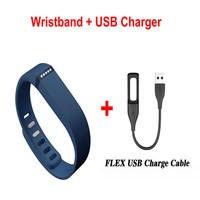 1pc USB Fitbit Flex USB Charger  + 1pc  Replacement TPU Fitbit Flex Wireless Wristband Bracelet Wrist Strap With Metal Clasp