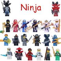 16pcs Ninjago Minifigure SWAT Special Police compatible Castle Knight Building Block doll Loose Brick action figure