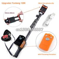 YUNTENG 1288 Monopod handhold pole + Phone Holder Clip + Bluetooth Remote ShutterKit For gopro hero4/3+/3 ,cellphone