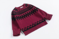 2014 new private wavy lines jacquard Double round collar sweater sweater free shipping
