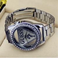 Hot Sale Fashion Latest Popular Luxurious All Steeless Steel Watches Famous Round Quartz luxury Men's Women's Watches Wristwatch